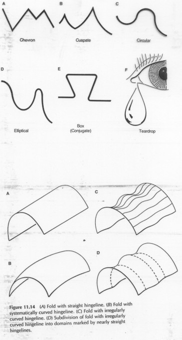 This diagram depicts some common fold types.